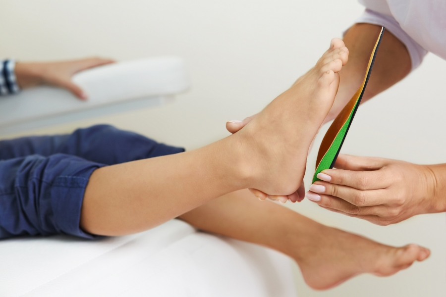 Custom fitted orthotics and back pain